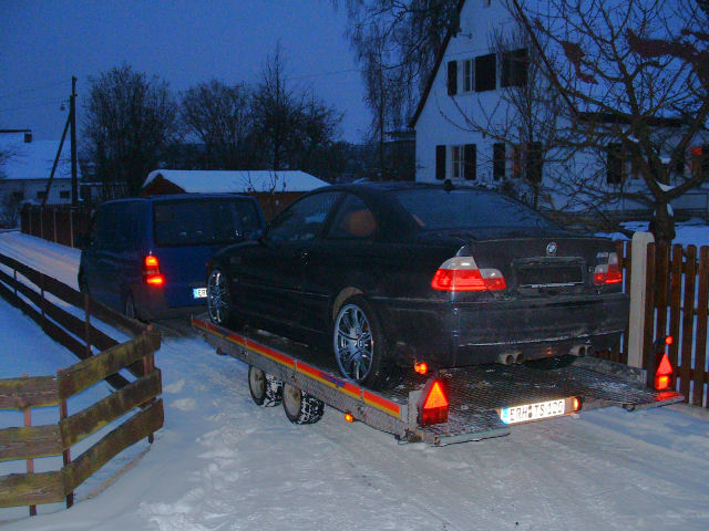 M3 on it's way to a new home.
