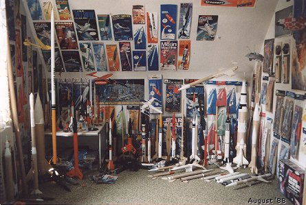 My rocket room in 1988
